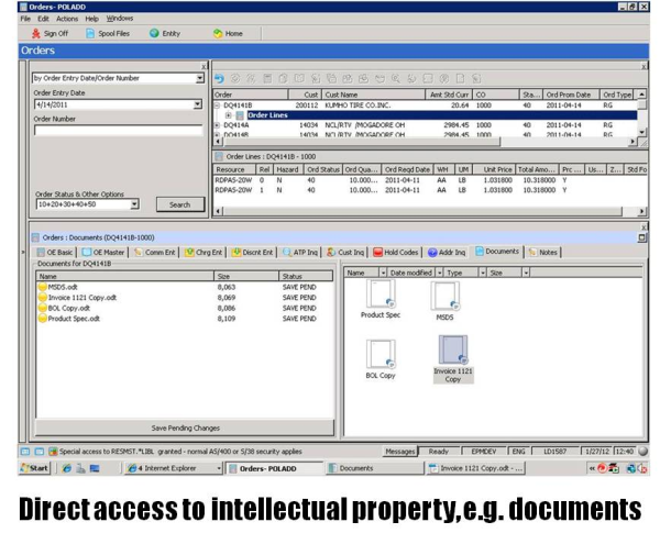 Direct accses to intellectual property, documents